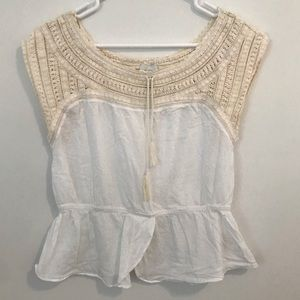 HD in Paris Anthropologie Crochet Dove Top 10